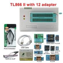 2020 Original minipro V10.08 TL866II Plus programmer+12 adapters better than TL866CS/TL866A programmer USB Free Shipping