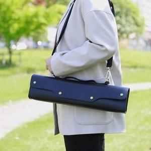 Flute Gig Bag Box Leather Flute Case for Western Concert Waterproof Flute Storage Bag Adjustable Shoulder Strap