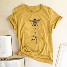 Hillbilly femmes abeille genre T-shirt esthétique graphique manches courtes coton Polyester t-shirts femme Camisetas Verano Mujer 2019