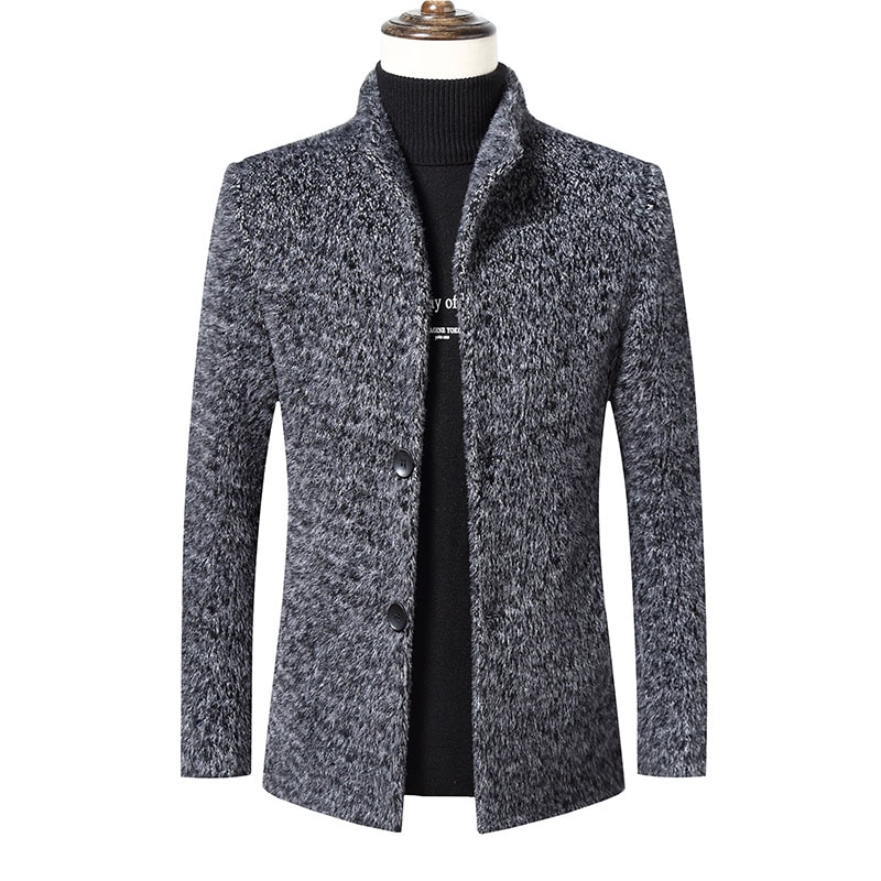 Новинка, мужские куртки-сафари, толстые теплые зимние куртки, мужские шерстяные куртки, плотное зимнее пальто, верхняя одежда для мужчин, же...