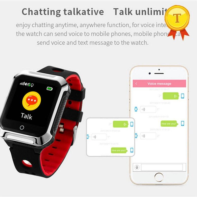 Madre Padre regalo mejor venta reloj teléfono GPS caída alarma impermeable GPS + WIFI + LBS SOS voz inferior hablar ancianos reloj inteligente