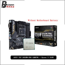AMD Ryzen 3 3100 R3 3100 CPU + Asus TUF B450M PRO GAMING Motherboard Anzug Buchse AM4 CPU + Motherbaord anzug Ohne kühler