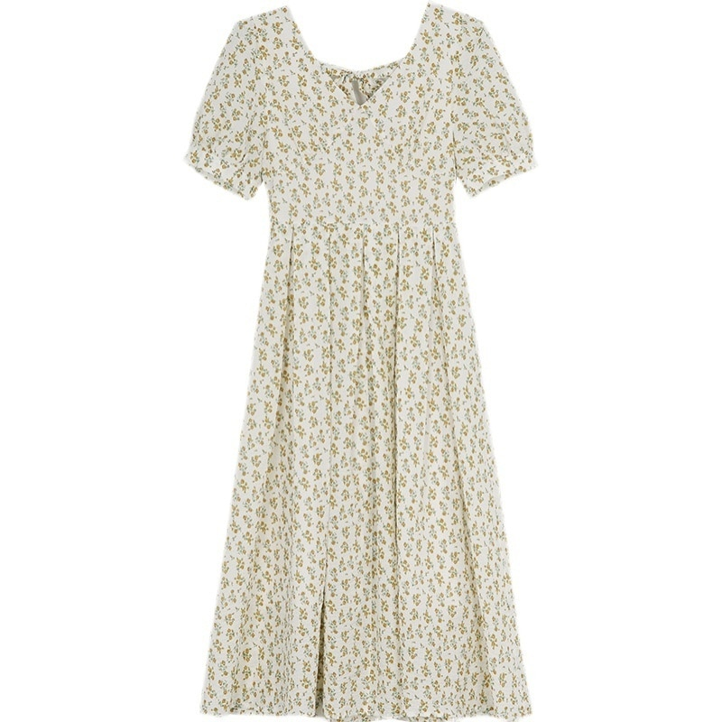 Quality Yellow Floral Dress Women's Summer Dress New Style