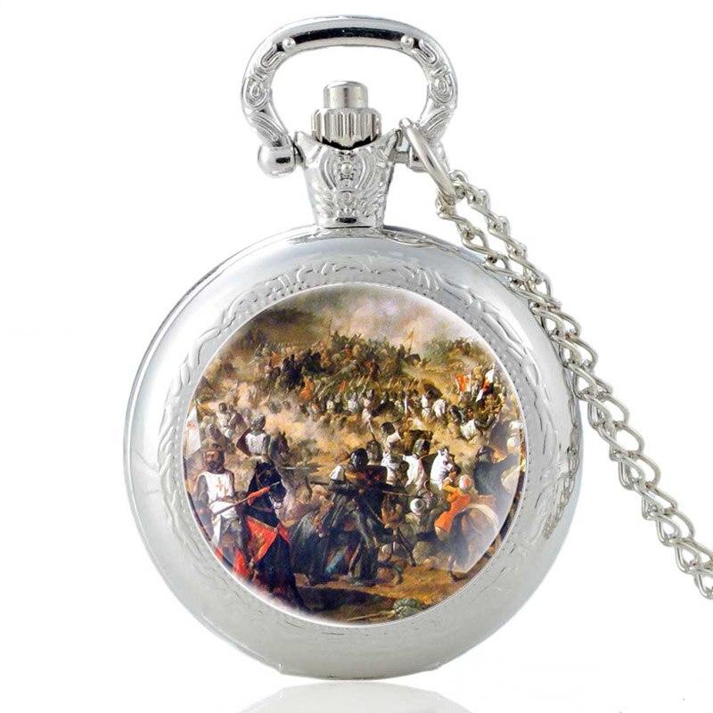 España Batalla ser las Navas De Tolosa plata Vintage reloj De bolsillo...