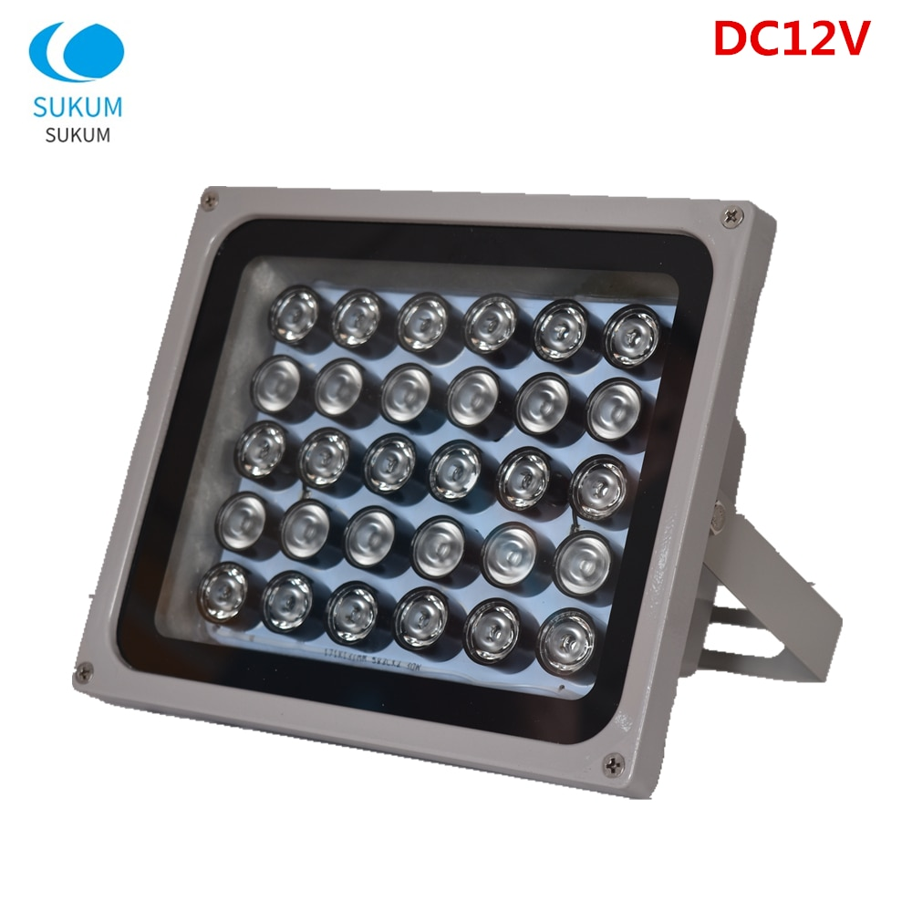 DC 12V 30Pcs Infrared CCTV Fill Light 850nm Array led Waterproof Night Vision IR illuminator infrared lamp For CCTV Camera high power led chip 850nm 940nm ir infrared 3w 5w 10w 20w 50w 100w emitter light bead cob 850nm 940 nm night vision cctv camera