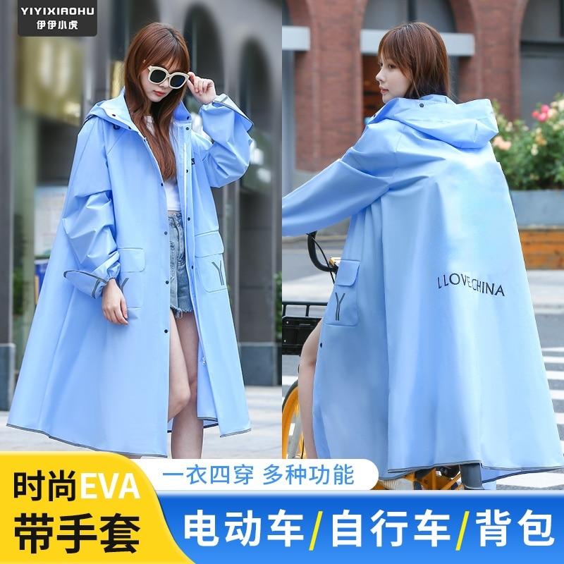 Women Travel Foldable Raincoat Large Jacket Polyester Plastic Raincoat Reusable Adult Antipioggia Moto Waterproof Poncho AG50YY enlarge
