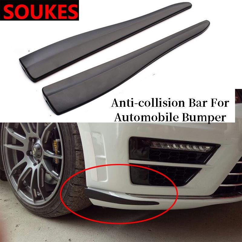 2 pçs 6d carro de carbono spoiler pára-choque tira etiqueta para mercedes benz w211 w203 w204 w210 w205 w212 w220 amg jaguar xe xf xj