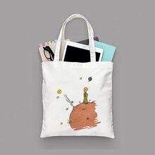 Petit Prince série impression toile sac fourre-tout Eco sac réutilisable sac à provisions recyclé mode sac à main usage quotidien