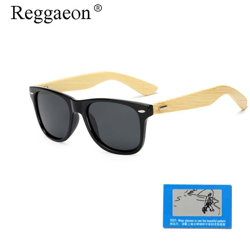 Retro Wooden Sunglasses Travel Sunglasses Polarized Sunglasses Bamboo Legs Fashion Male Brand Design