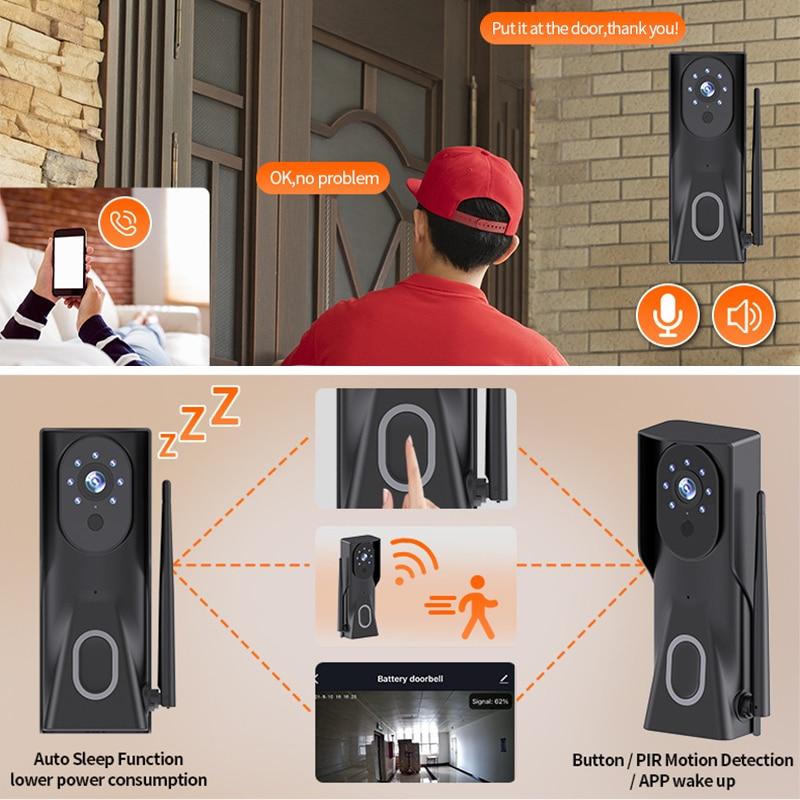 Tuya 1080P HD Video Doorbell Camera WiFi Wireless Doorbell Smart Home Door Bell Camera Outdoor Mini Video Intercom Two Way Audio enlarge