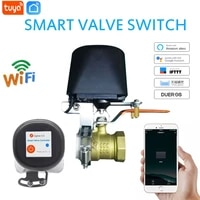 Vanne deau gaz intelligente Tuya Zigbee  controleur darret dautomatisation  fonctionne avec Alexa Google Assistant IFTTT