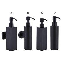 200ml duvara monte duş şişe pompası paslanmaz çelik şampuanlık siyah