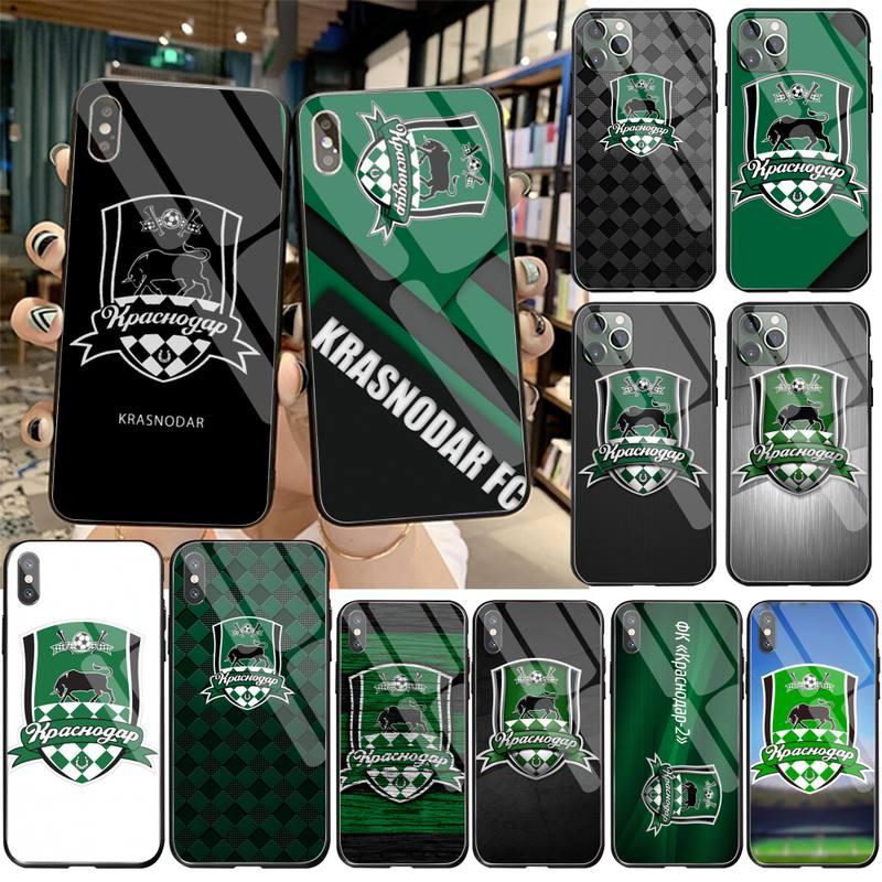 Football Team Fc Krasnodar Black Phone Case Cover Romp Gehard Glas Voor Iphone 11 Pro Xr Xs Max 8X7 6S 6 Plus Se 2020 Case