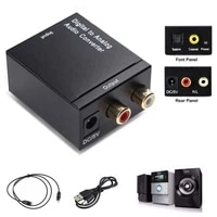 Toslink     convertisseur Audio numerique-analogique  Coaxial 3 5mm  adaptateur Audio domestique pour systeme de cinema domestique