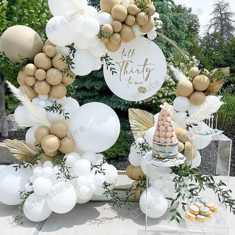 129Pcs Balloon Monochrome Series Arch Garland Kit  Accessories Decorations  Balloon Garland Butterfly  Wedding Table Decoration