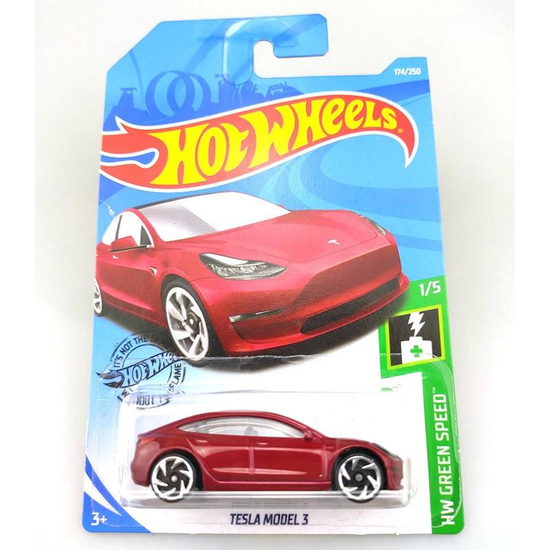 Hot Wheels 1:64 Car 2019 NO.174-218 TESLA MAZDA JEEP FORD CHEVY Metal Diecast Model Car Kids Toys Gi