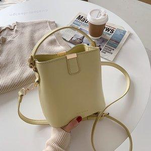 Crossbody Bags for Women Leather Messenger Bags Female Solid Color Shoulder Bag Sac A Main Vintage Bucket Handbags Women Bolsa