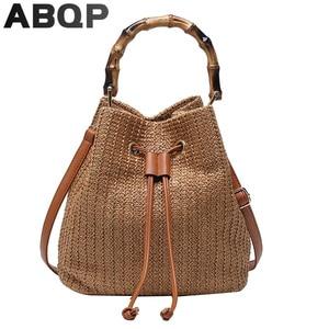 ABQP Designers Woven Women Straw Bag Large Capacity Multifunction Female Handbag Multifunction Summer Beach Shoulder Bag