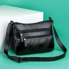 RoyaDong Brand Black Women Messenger Bags Luxury Big capacity Crossbody Bags For Women 2019 Shoulder Handbags Designer Soft Pu