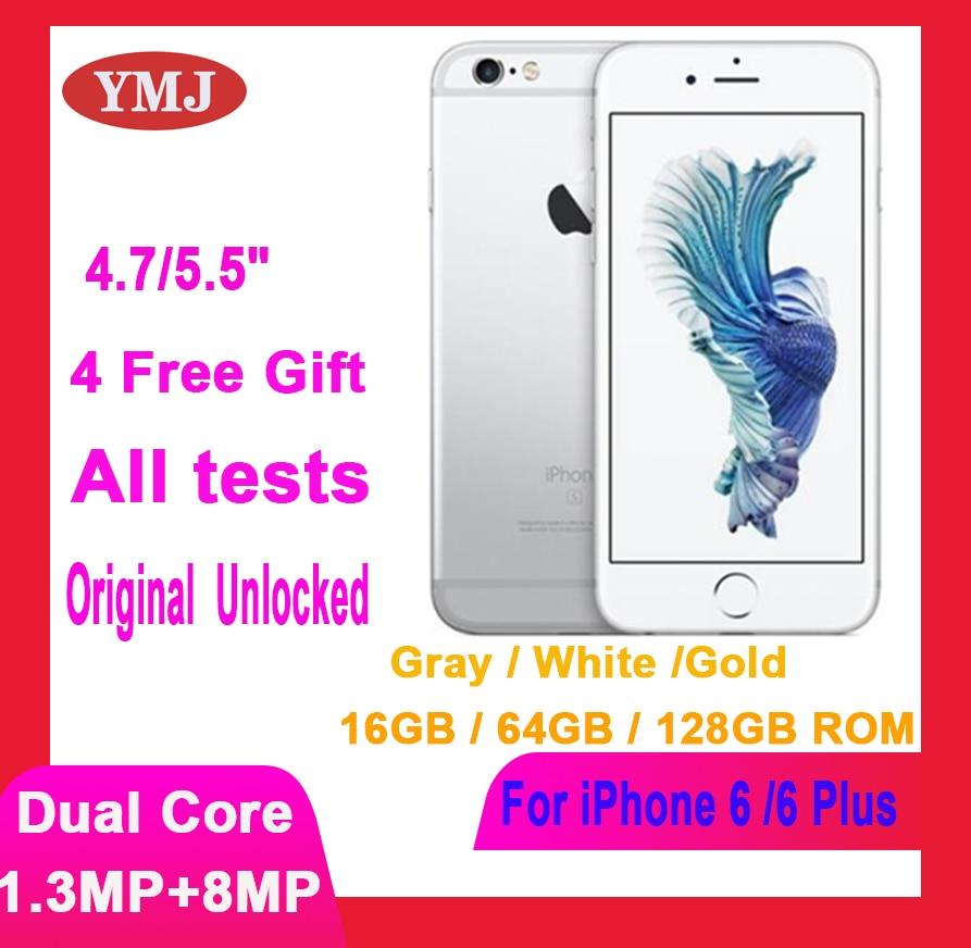 Apple Iphone 6 /6 Plus Used (95% New )-Unlocked Original 4.7/5.5'' inch IPS 16/64/128GB ROM GSM WCDMA LTE iPhone6 /6Plus phone