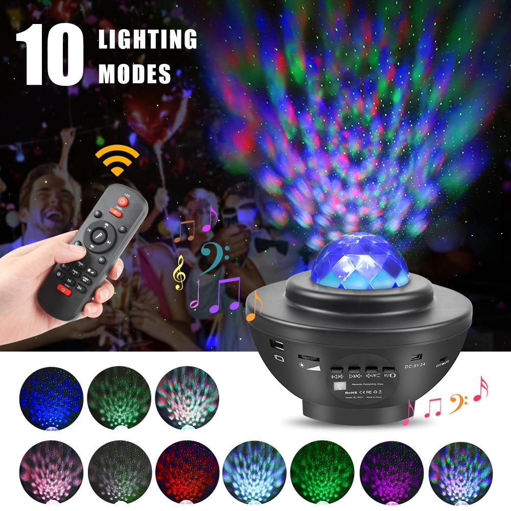 مصباح إسقاط سماء مرصعة بالنجوم ، مع شاحن USB ، مشغل موسيقى بلوتوث ، جهاز عرض ملون LED ، ضوء ليلي ، جهاز تحكم عن بعد ، هدية للأطفال