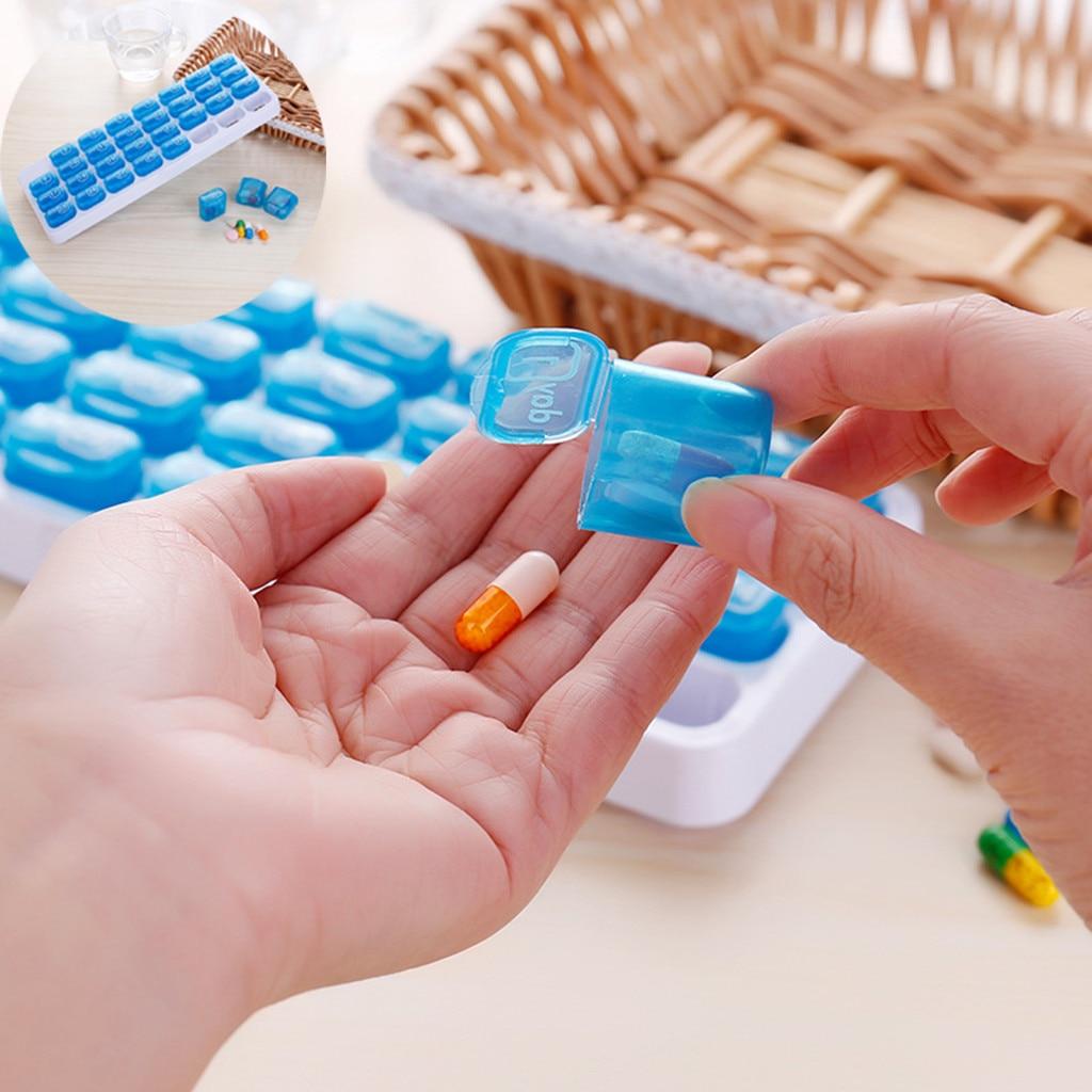Caja organizadora dispensadora de medicina 31 días caja organizadora 1 unidad caja de almacenamiento semanal caja de píldoras Extra grande mensual organizador M #11