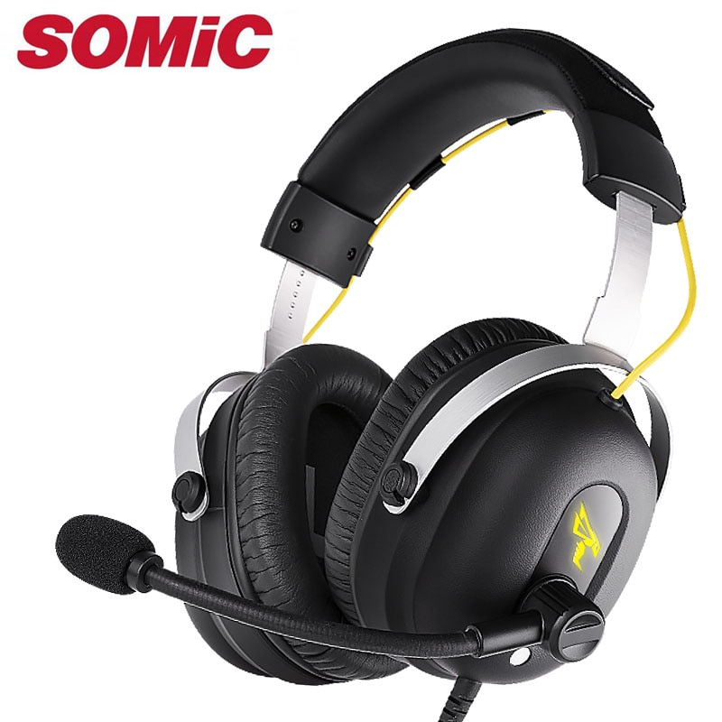 Auriculares para juegos, auriculares con sonido 7,1, auriculares USB con micrófono, micrófono, PC, Bass, estéreo, ordenador portátil, marca Somic G936PRO