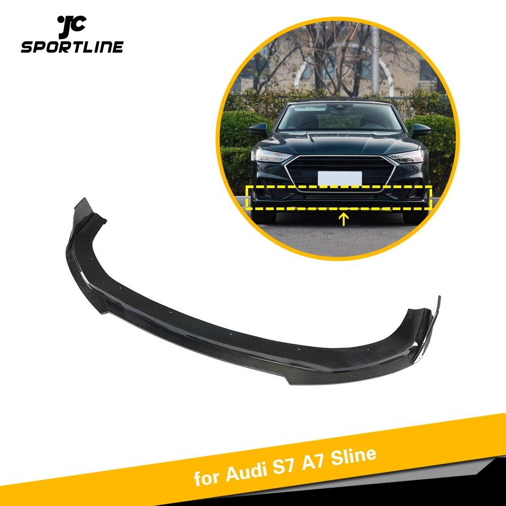 De fibra de carbono parachoques delantero labio divisores para Audi A7 Sline S7 Sedan 2019 parachoques delantero Chin Spoiler