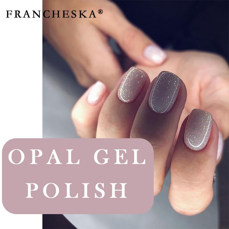New Arrival Shimmer Glitter Jelly Opal Gel polski podkład Top Coat Primer Soak Off Nail UV Gellak lakier 1 Jar