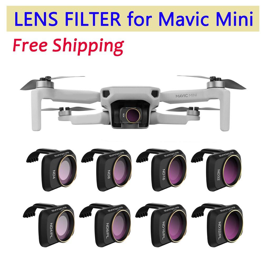 Para DJI Mavic Mini Drone Cámara cardán lente filtro MCUV CPL ND lente de cámara Sunhood Protector para DJI Mavic Mini Accesorios