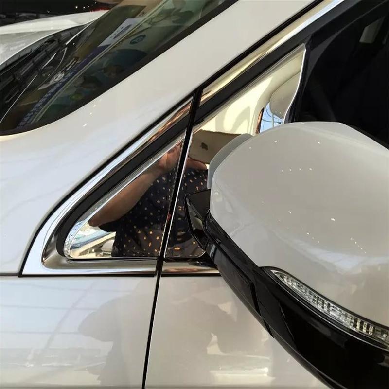 WELKINRY para Ford Edge 2014 2015 2016 2017 2018 2019 2020 Endura ventana lateral del coche ala espejo triángulo frontal columna Pilar trim