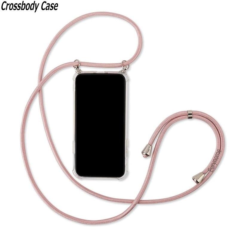 Crossbody Lanyard Case For OPPO Reno 2 2z 2F 3 Pro Reno Z Ace A5 A9 2020 Realme C11 C15 Necklace Str