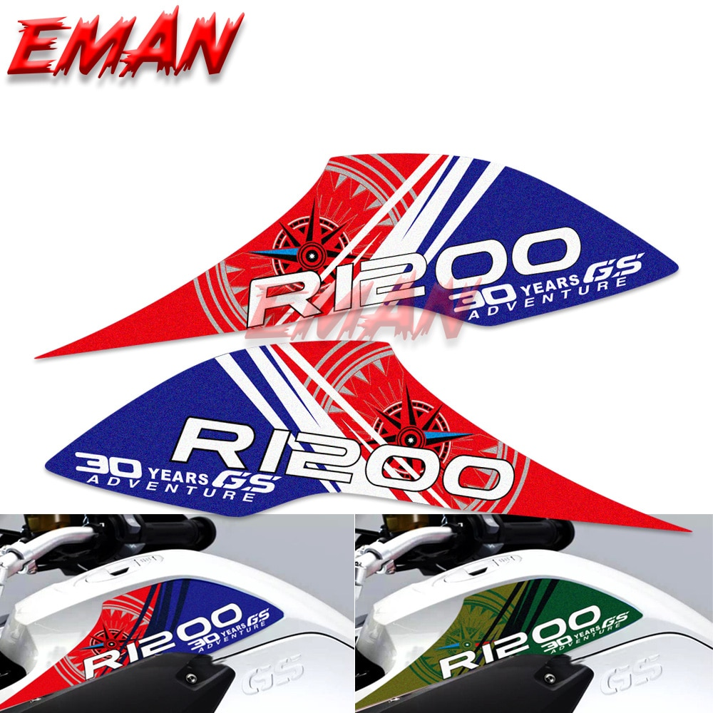 new motorcycle fuel tank side box protection sticker anti scratch decorative decal for bmw f850gs adv f 850 adv Motorcycle Fuel Tank Upper Side Protection Scratch-Resistant Reflective Stickers Decorative Decals for BMW R1200GS ADV 2013-2016