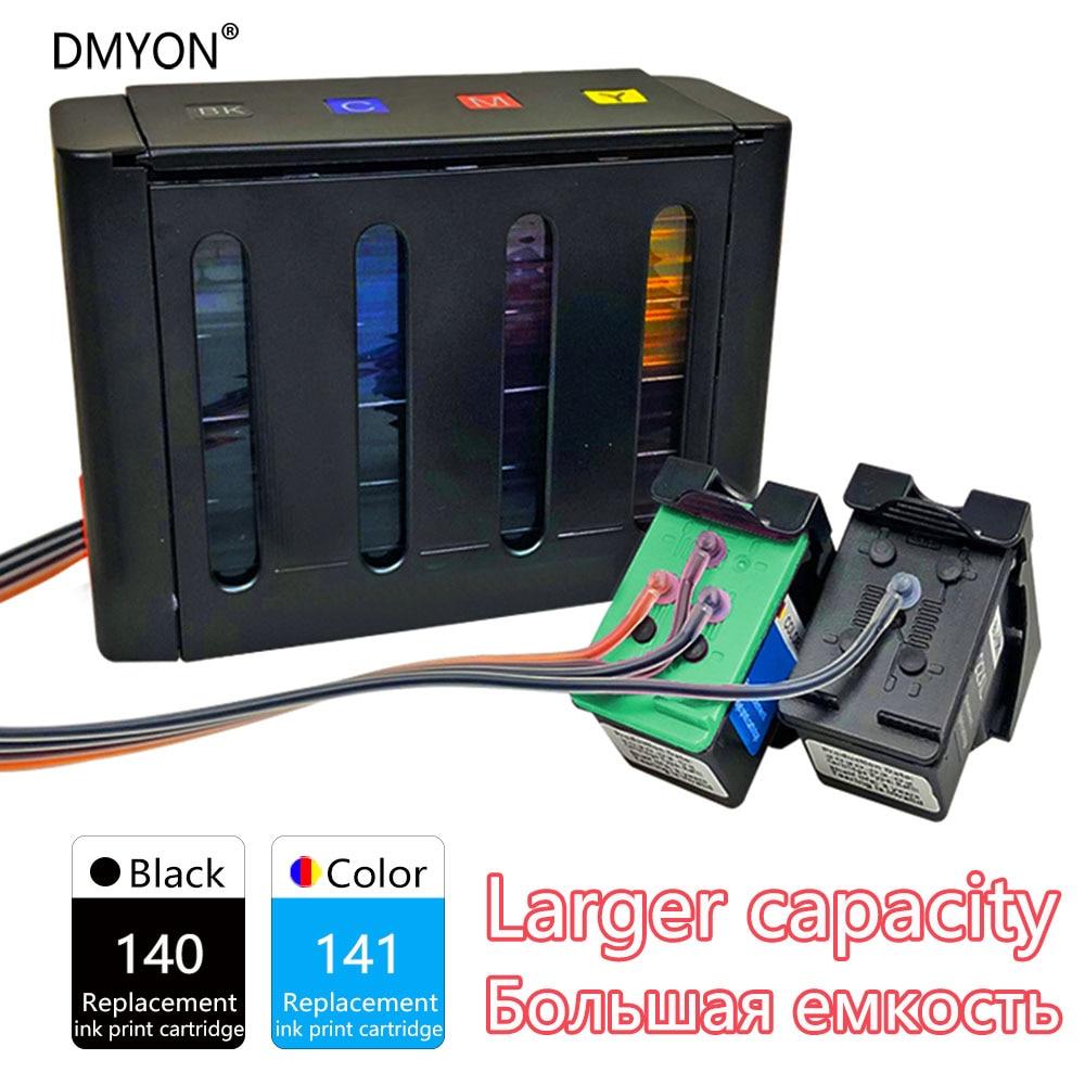 DMYON Compatível para HP 140 141 Sistema de Abastecimento Contínuo de Tinta Photosmart C4203 C4213 C4273 C4283 C4293 C4343 C4383 C4403 Impressora