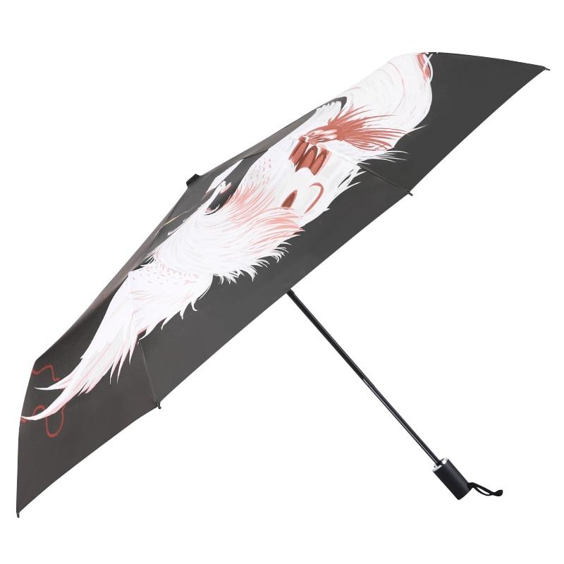 Decoration Sun Rain Umbrella Men Manual Sunscreen Phoenix Windproof Umbrella Anti Ultraviolet Male Paraplu Waterproof AG50ZS enlarge