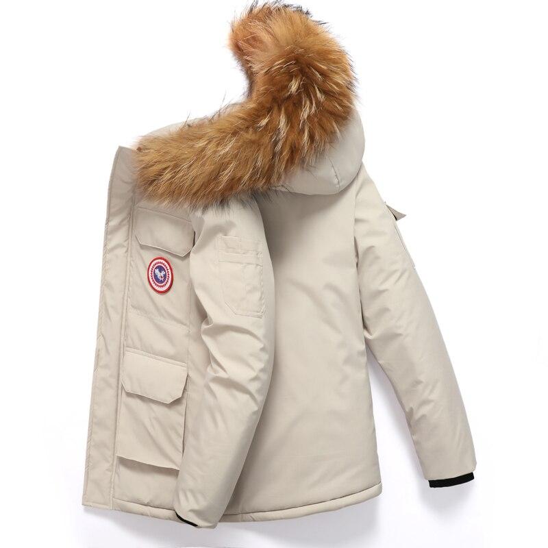 2021 зимняя куртка мужская Корейская версия Модные пуховые парки теплая и непромокаемая Толстая зимняя парка мужская зимняя куртка