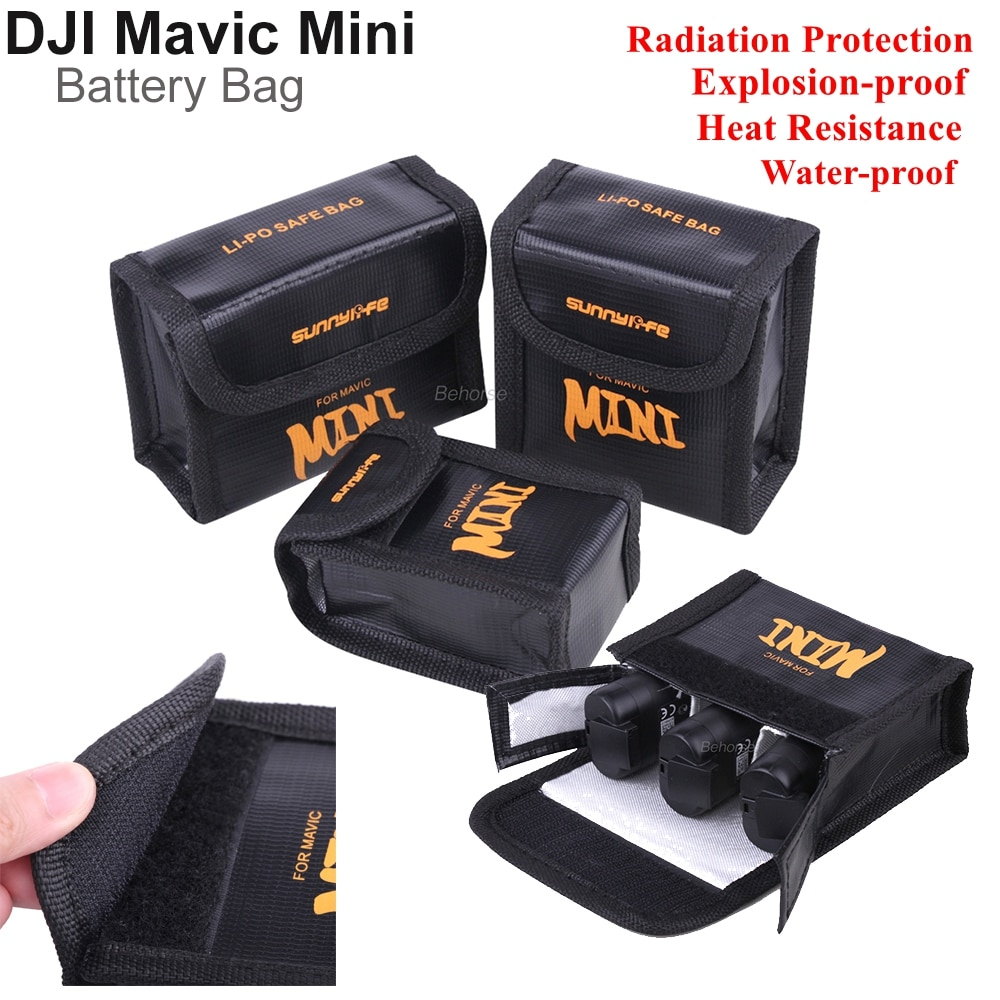 Mavic Mini безопасная сумка для хранения батареи, водонепроницаемый взрывозащищенный Lipo защитный чехол для аккумулятора для DJI Mavic Mini, аксессуар...