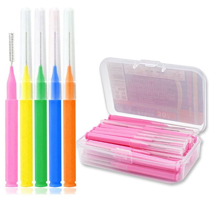 30pcs/lot Interdental Brush Dental Floss Teeth Oral Clean Hygiene Toothpick Teeth Brush Oral Care Tool