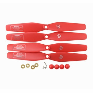 4PCS Propeller For SJRC S20W S30W T18 H301S T25 HS110D HS110G HS120D Aerial Photography Quadcopter Spare Parts Red