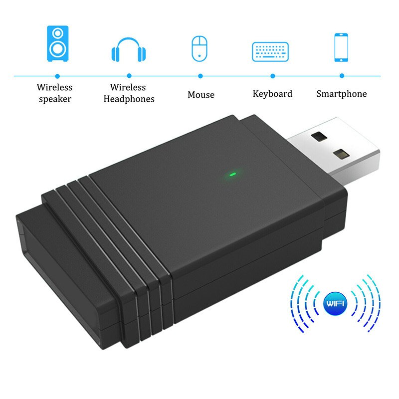 1200 Mbps USB 3,0 adaptador WiFi Dongle inalámbrico de doble banda Bluetooth 5,0 antena Dual incorporada dq-drop