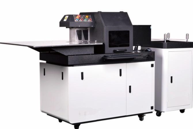 Tres en uno 3D Sign acero inoxidable aluminio recortado tapa perfil carta de canal CNC máquina para plegar plegadora