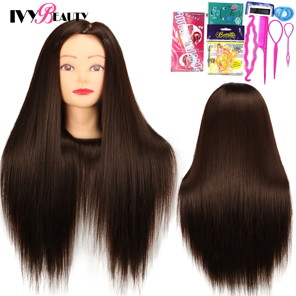 Women Mannequin Head Dolls For Hairstyles Barber 65cm Hairdressing Educational Hairdresser Mannequin Training Head Stand For Wig