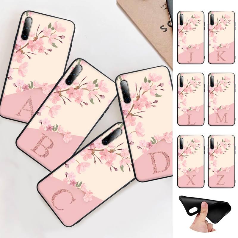 Funda de silicona con letras para teléfono móvil Huawei, carcasa bonita con...