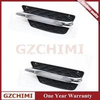a2048851353 a2048851453 lh rh front bumper grill molding led fog light drl for mercedes c class 2012 2013 2014