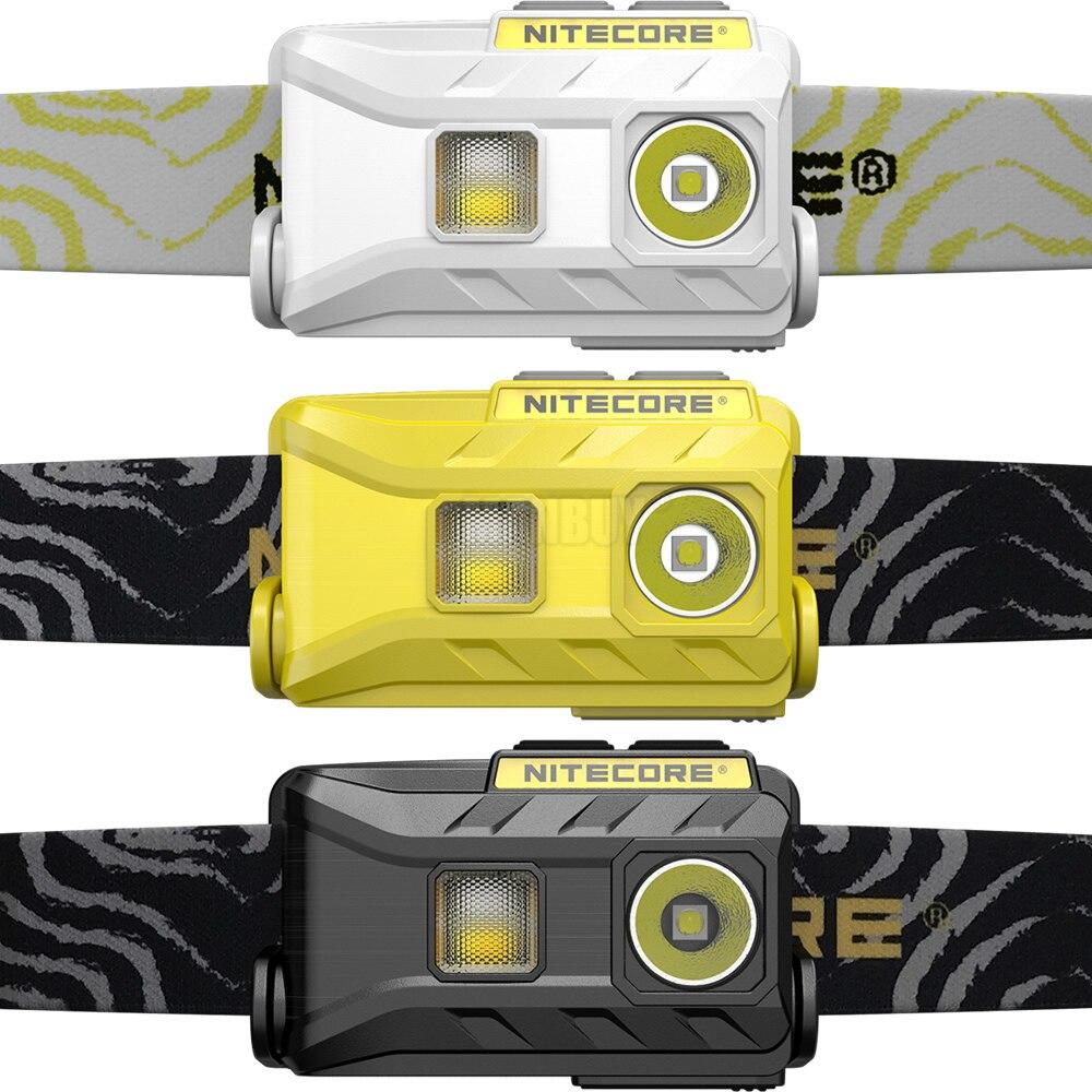 2020 Nitecore NU25 3xLED linterna frontal recargable 360 Lumen Triple salidas linterna ligera al aire libre corriendo ciclismo