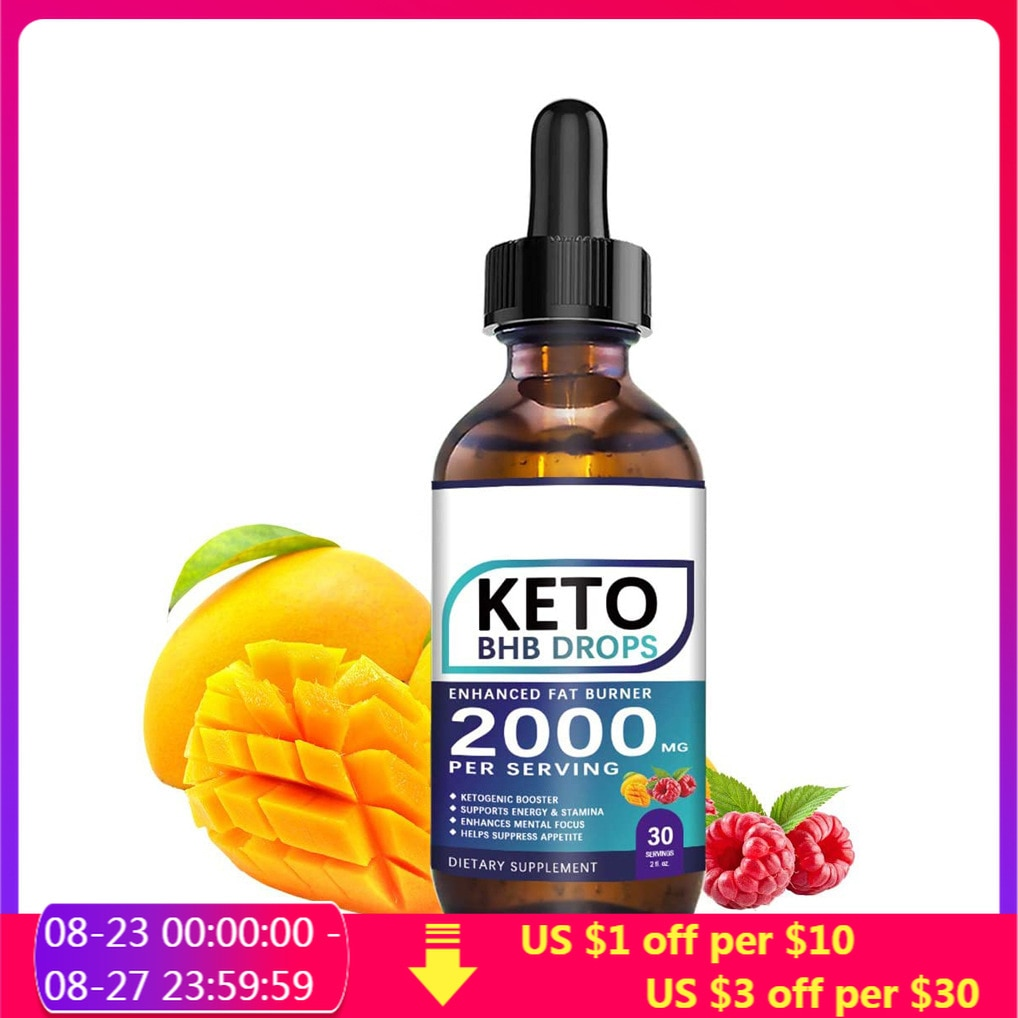 60ML Weight Loss Ketogenic Supplement Keto Drops Fat Burner Formula To Boost Metabolism Keto Diet Drops For Men And Women