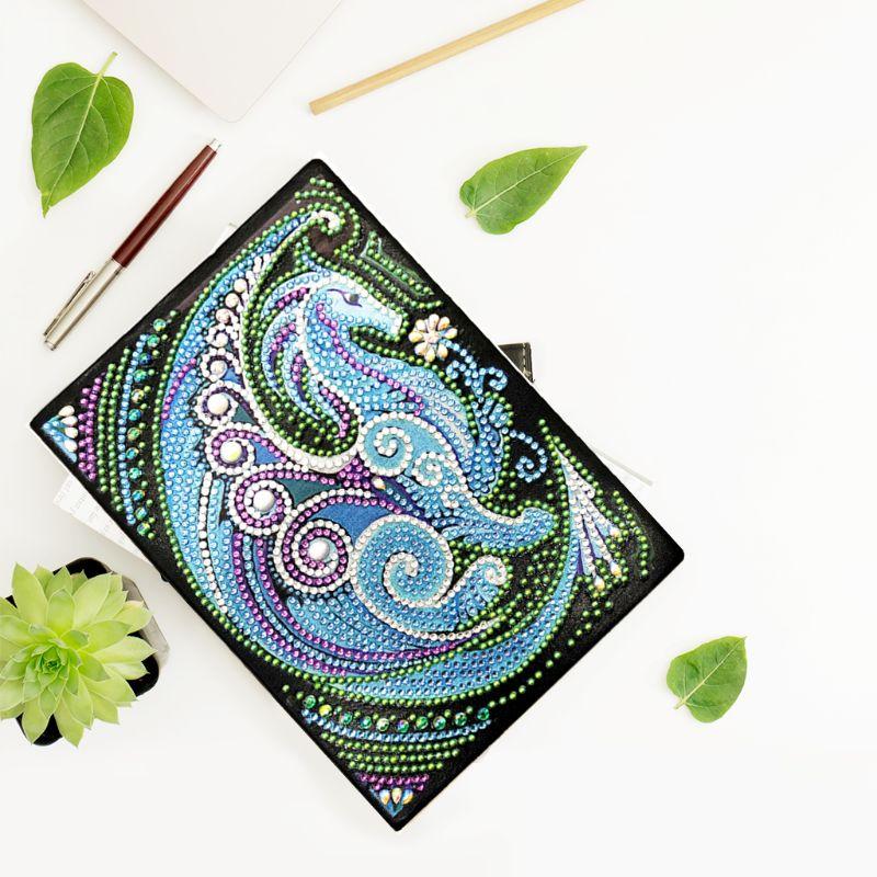 Forma Especial de Pintura de diamante de Dragon DIY, libro de agenda A5, arte bordado de resina, diamantes, purpurina única
