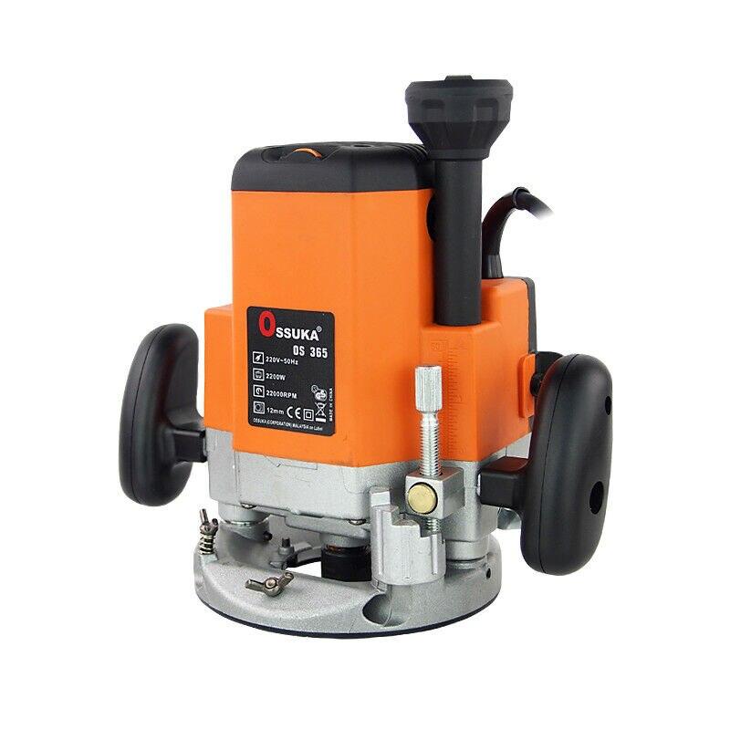 Cortadora de madera de Base fija 2200W 220V máquina de ranura de madera eléctrica
