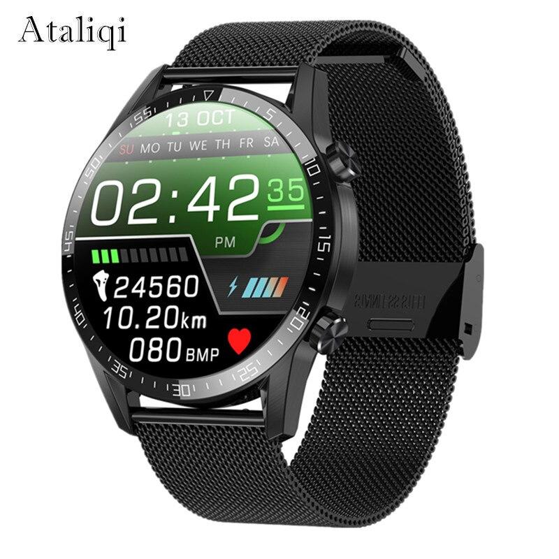 2020 novo relógio inteligente masculino 24 horas monitor de temperatura contínua ip68 ecg ppg bp freqüência cardíaca fitness rastreador esportes smartwatch