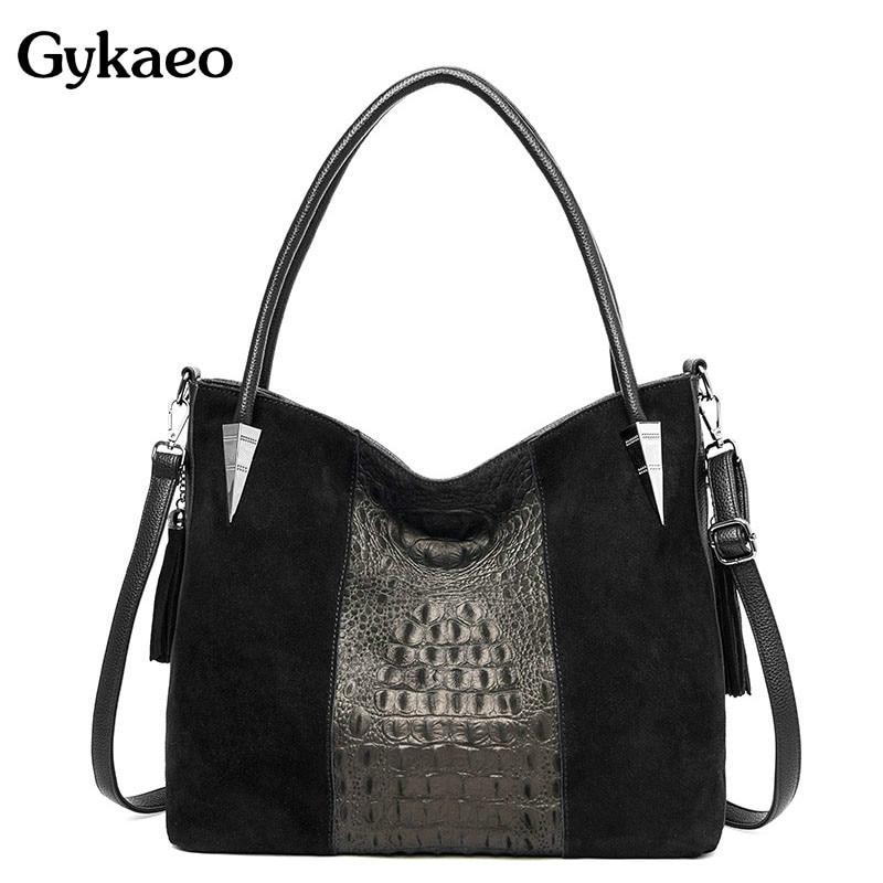Gykaeo, bolsos de diseño de alta calidad A la moda con diseño de cocodrilo, bolsos de mensajero para mujer, 2020, bolso de mano de terciopelo para mujer, bolso principal